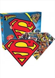 DC Comics Superman Logo & Collage Double Sided 600pc Puzzle
