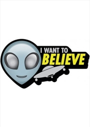 Alien I Want To Believe Ship Chunky Magnet