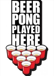 Beer Pong Played Here Chunky Magnet