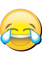 Emoji Laugh Cry Chunky Magnet