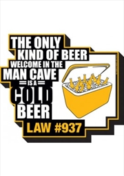 Man Cave Beer Chunky Magnet | Merchandise