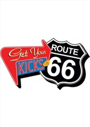 Route 66 Get Your Kicks Red Chunky Magnet
