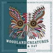 Woodland Creatures Night and Day Colouring Book