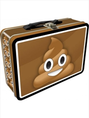 Poop Emoji Tin Carry All Fun Box | Lunchbox