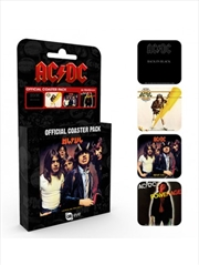 ACDC Albums (Set of 4 cork based drinks coasters) | Merchandise