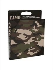 Camo (Set of 4 neoprene drinks coasters)