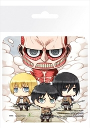 Attack on Titan Group (Single cork based drinks coaster)