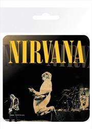 Kurt Cobain Jump (Single cork based drinks coaster)