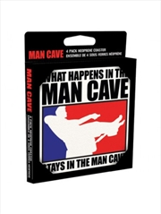 Man Cave (Set of 4 neoprene drinks coasters) poster