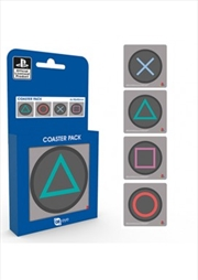 Playstation Buttons (Set of 4 cork based drinks coasters) | Merchandise
