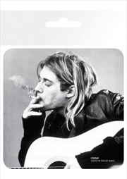 Kurt Cobain Smoking (Single cork based drinks coaster)