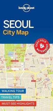 Lonely Planet Seoul City Map | Sheet Map
