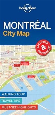 Lonely Planet Montreal City Map | Sheet Map