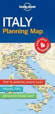 Lonely Planet Italy Planning Map | Sheet Map