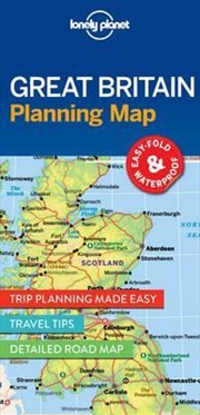 Lonely Planet Great Britain Planning Map | Sheet Map