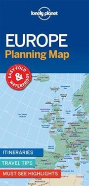 Lonely Planet Europe Planning Map | Sheet Map