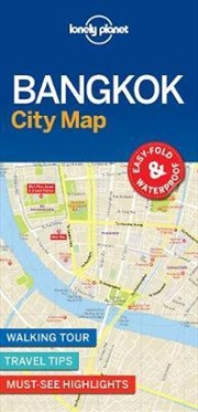 Lonely Planet Bangkok City Map | Sheet Map