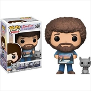 The Joy of Painting - Bob Ross and Pea Pod US Exclusive Pop! Vinyl [RS]