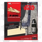 Incredibuilds Star Wars the Last Jedi A Wing 3D Wood Model and Book | Merchandise