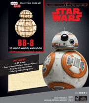 Incredibuilds Star Wars the Last Jedi BB8 Wood Model and Book | Merchandise