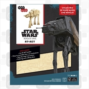 Incredibuilds Star Wars Rogue One AT ACT 3D Wood Model and Book