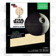 Incredibuilds Star Wars Rogue One Death Star 3D Wood Model and Book | Merchandise