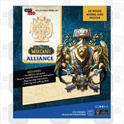 Incredibuilds World of Warcraft Alliance 3D Wood Model | Merchandise
