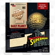 Incredibuilds DC Comics Superman Daily Planet 3D Wood Model and Book | Merchandise