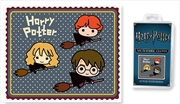 Harry Potter Microfibre Cloth- Chibi Broomsticks