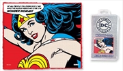 DC Comics - Wonder Woman Quote Microfibre Cloth | Accessories