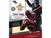 Incredibuilds Marvel Captain America Civil War Iron Man Signature Series 3D Wood Model | Merchandise