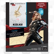 Incredibuilds Marvel Avengers Thor 3D Wood Model and Book