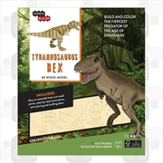 Incredibuilds Tyrannosaurus Rex 3D Wood Model | Merchandise