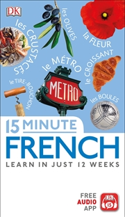 15-Minute French | Paperback Book