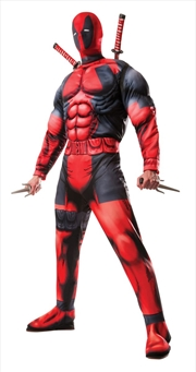 Deluxe Muscle Chest Adult Deadpool Costume | Apparel