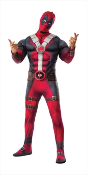 Deluxe Muscle Chest Adult Dead Pool Costume