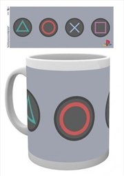 Playstation - Buttons 10oz