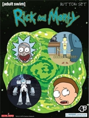Rick And Morty - Badge Pack 4pk | Merchandise