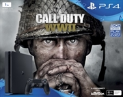 PlayStation 4 Console 1TB Slim with Call of Duty WWII