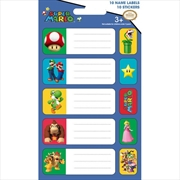 Nintendo: Super Mario Name Labels And Stickers | Merchandise