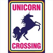 Unicorns Crossing Tin Sign