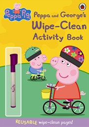 Peppa Pig: Peppa and Georges Wipe-Clean Activity Book | Paperback Book
