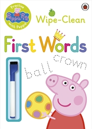 Peppa Pig: Practise With Peppa: Wipe-Clean First Words | Paperback Book