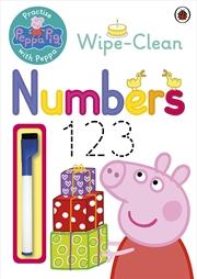 Peppa Pig: Wipe Clean Numbers | Paperback Book