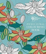 Rhs Pocket Floral Colouring Bo
