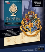 Incredibuilds Harry Potter Hogwarts Crest Book And 3D Wood Model