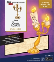 Incredibuilds Disney Beauty and the Beast Lumiere 3D Wood Model And Book