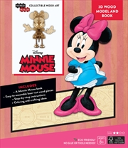 Incredibuilds Walt Disney Minnie Mouse 3D Wood Model And Book | Merchandise
