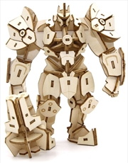 Incredibuilds Overwatch Reinhardt 3D Wood Model And Poster