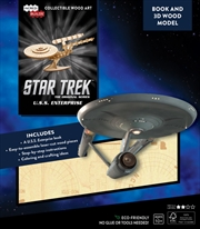 Incredibuilds Star Trek U.S.S. Enterprise Book And 3D Wood Model